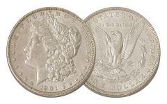 1901-O Morgan Silver Dollar AU
