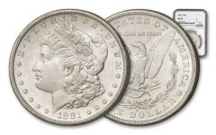1881-S Morgan Silver Dollar NGC/PCGS MS63
