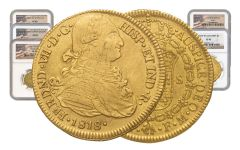 1742-1833 Spain Gold Escudo NGC XF 5-Pc Set