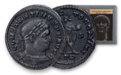 AD 307–337 Ancient Roman Bronze of Constantine I NGC Ch XF