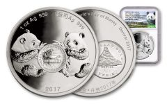 2017 1-oz Silver Panda Denver ANA NGC PF69UCAM Early Release