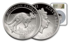 2017 Australia 5-oz Silver Kangaroo High Relief Proof PF69UCAM - First Strike