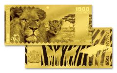 2018 Tanzania 1500 Shilling 1-gram Gold Big Five African Lion Proof-Like