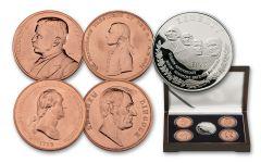 1991 Silver Mount Rushmore Dollar/Medal 5pc Set