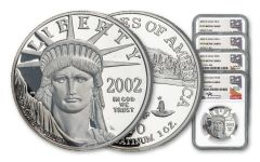 4PC 2002-W $10-$100 PLAT EAGLE NGC PF70 MERCANTI