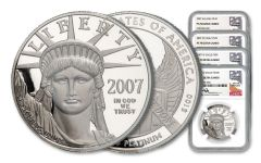 4PC 2007-W $10-$100 PLAT EAGLE NGC PF70 MERCANTI