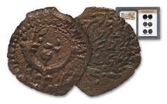 Ancient Widow's Mite Bronze Prutah Double Strike NGC XF