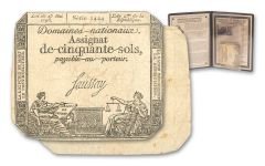 1789-1796 French Revolution Assignat Certificate F/VF