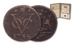 1726-1794 Dutch New York Penny Coin