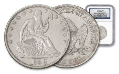 1858-O Half Dollar Seated Liberty SS Republic NGC Shipwreck Effect