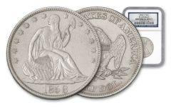1858-O Half Dollar Seated Liberty SS Republic NGC Shipwreck Effect