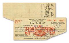 1930's City of Charleston Depression Scrip Note