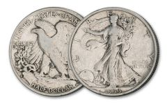 1933-S Half Dollar Walking Liberty Depression Era, Fine