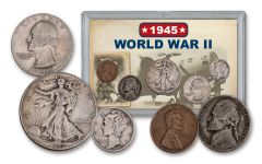 1945 1 Cent – 50 Cents World War II 5-Piece Set VG