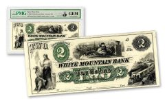 2018 Santa Claus $2 Obsolete Bank Note PMG Gem Unc Haxby Signature