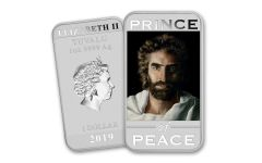 2019 Tuvalu $1 1-oz Silver Akiane's Prince of Peace Uncirculated