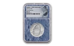 2019-D Apollo 11 50th Anniversary Clad Half Dollar NGC MS70 Early Releases - Moon Core with Mission Patch