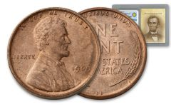 1909-P One Cent Lincoln VDB NGC Choice Uncirculated w/ Smithsonian® Classics Label