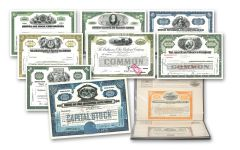 1950's–1990's Great American Stocks and Bonds 25-Piece Album