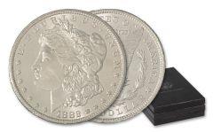 1882-1884-CC Morgan Silver Dollar 3-pc Set NGC MS64 GSA Moy Signed Labels