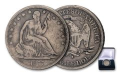 1875–1877-S 50 Cents Silver Seated Liberty VG