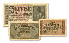 1939–1945 Nazi Germany Occupation Notes 3-pc Set