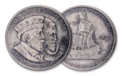 1924-P 50 Cents Silver Huguenot-Walloon Tercentenary Commemorative XF