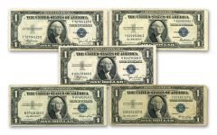 1935 $1 Silver Certificate 5-Pack VF