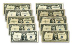 1935 $1 Silver Certificate 10-Pack VF