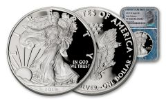 2019-W $1 1-oz Silver Eagle NGC Proof PF70UC Early Releases w/Moon Core & Label