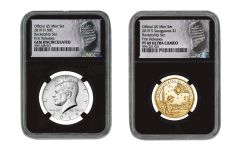 2019 U.S. Mint Rocketship™ 2-pc Set NGC Gem Unc & PF69UC w/Black Core & Moonprint Label