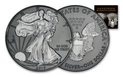 2019 $1 1-oz Silver Eagle Black Ruthenium Silhouette Edition BU