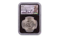 1972-D Eisenhower Dollar NGC MS65 From Mint-Sealed Bag w/Black Core & Charlie Duke Signature