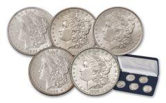 1885–1889-P Morgan Silver Dollar 5-Coin Set BU