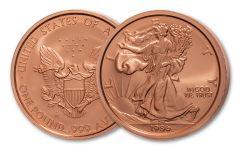 One-Pound Copper 1986 Silver Eagle Replica Cameo