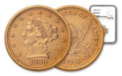 1880-P $2.50 Gold Liberty NGC MS60 PL