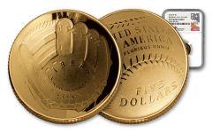 2014 $5 GOLD BASEBALL HOF NGC PF70UC MERCANTI