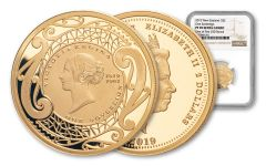 2019 New Zealand $2 Gold Sovereign NGC PF70UC First Struck