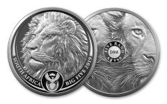 SA 2019 5 RAND 1OZ SILVER BIG 5 LION PROOF
