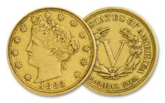 1883 Racketeer Nickel w/Gold Plating