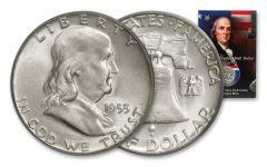 1955 Silver Franklin Half Dollar