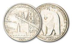 1936-S Bay Bridge Commemorative Silver Half Dollar XF-AU