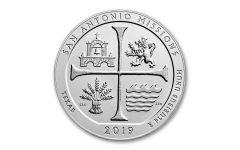 2019 5-oz Silver America the Beautiful – San Antonio Missions National Historical Park Specimen