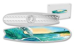 AUS 2020 $2 2-OZ SILVER SURFBOARD COLOR BU