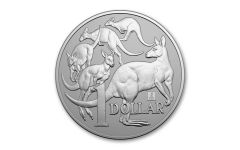 2019 Australia $1 1-oz Silver Kangaroo ANA Show BU with Chicago Willis Tower Privy Mark