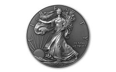 2019 1 Dollar 1-oz Silver Eagle BU w/Antique Finish