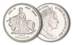 2019 British Virgin Islands $1 28.28-gm CuNi Una & The Lion Unc