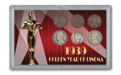 1939 Golden Year of Cinema 6-Coin Set