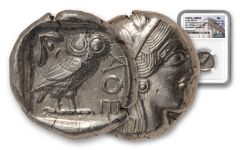 440-404 BC Attica Athens Silver Tetradrachm w/Athena Obverse & Owl Reverse Parliament Collection NGC MS