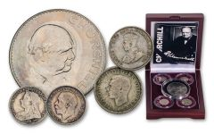 GREAT BRITAIN 5PC 1893-1965 CHURCHILL SET W/BOX